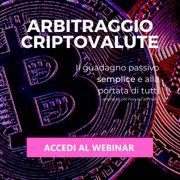 Webinar Arbitraggio Criptovalute