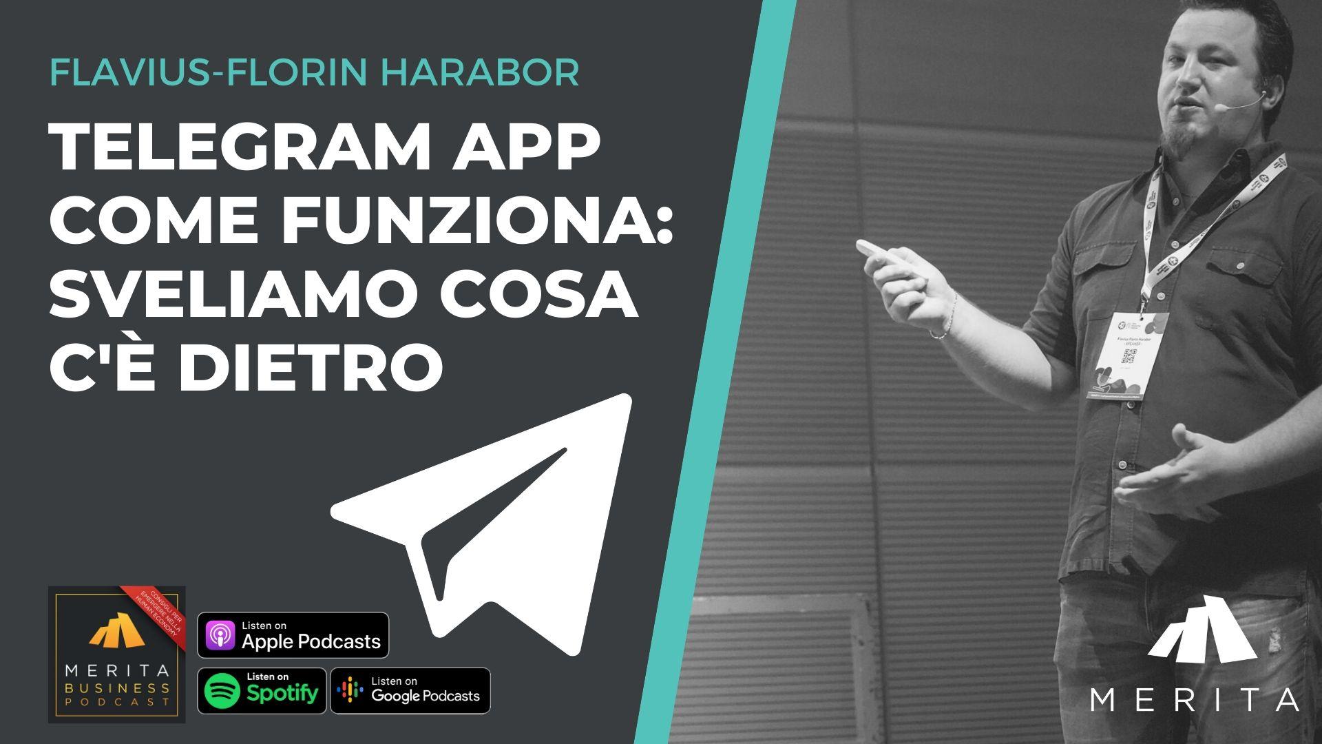 Flavius Florin Harabor parla di Telegram