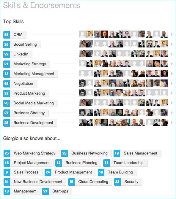Linkedin skills examples