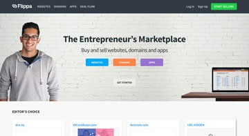 Flippa - Marketplace per la compravendita di siti web