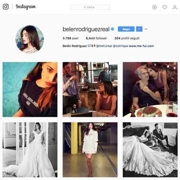 Instagram Belen Rodriguez: uno screenshot del suo account
