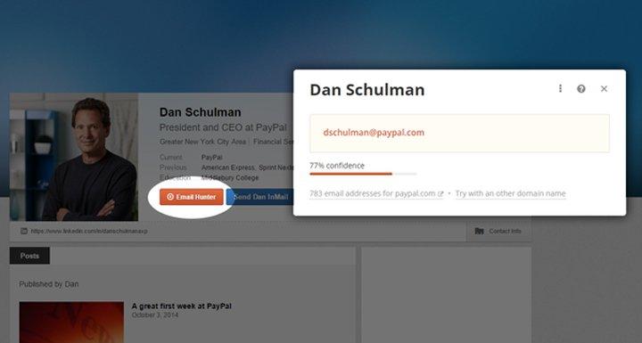 Linkedin - Trova le email degli utenti linkedin