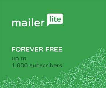 Mailerlite è completamente gratis fino a 1000 email