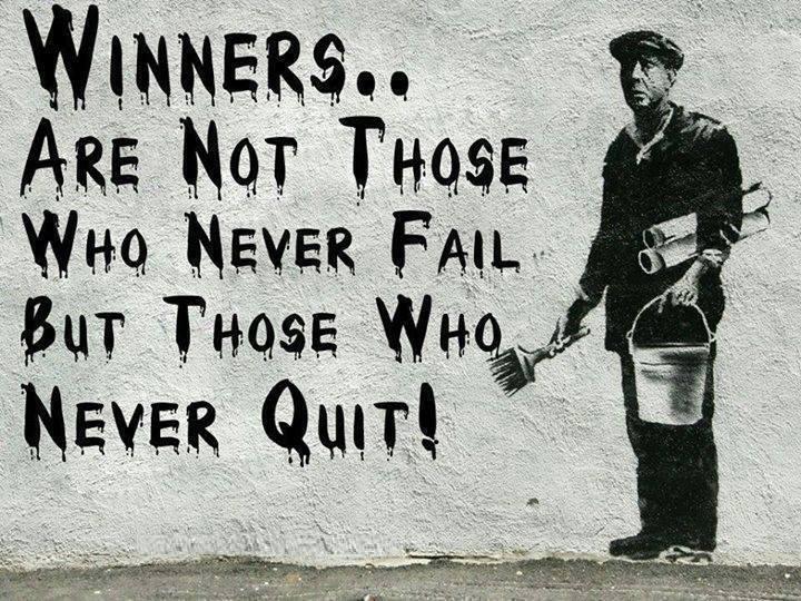 Non mollare mai!