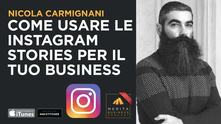 Nicola Carmignani spiega come si usano le Instagram Stories