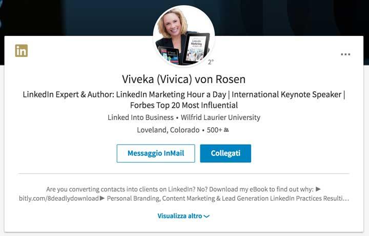 Viveka Von Rosen - Linkedin Summary
