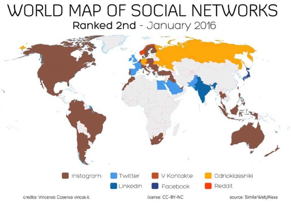 World Map of Social Media