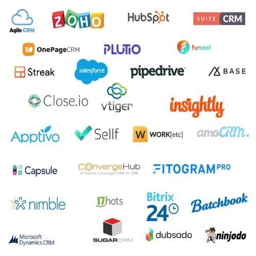 Vari Logi CRM: Salesforce, SugarCRM, Hubspot...