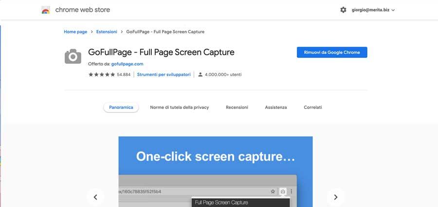 GoFullPage: Estensione per Chrome