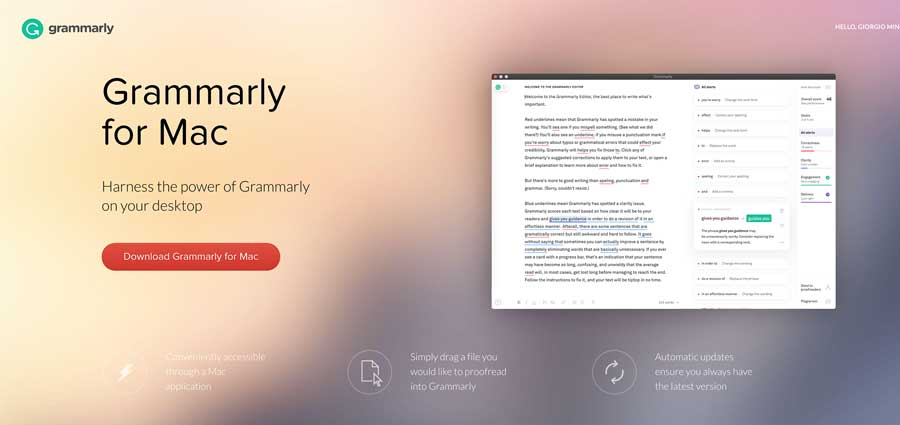 Grammarly: una delle 10 migliori estensioni per Chrome utili a chi lavora.