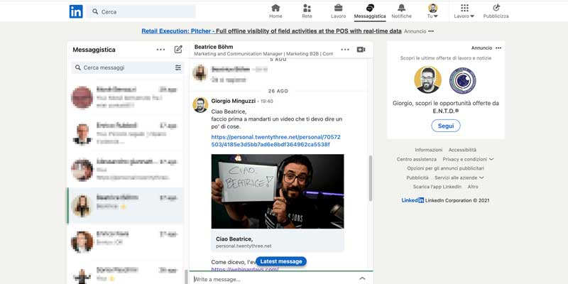 Video Messaggi Linkedin